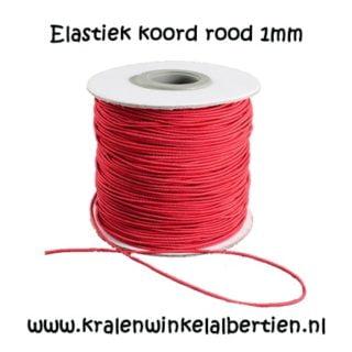 Elastisch koord rood nylon 1mm sieraden