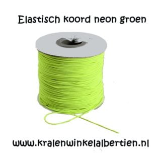 Elastisch koord neon groen