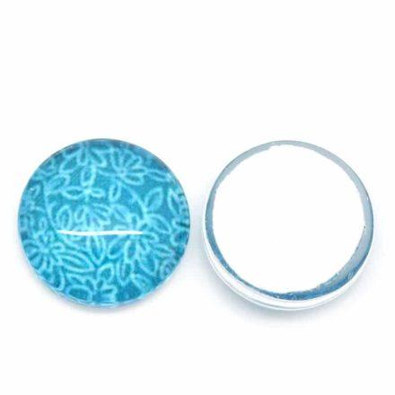 Glas cabochons 12mm blauw