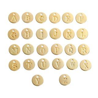 Metalen letters bedel goud rond