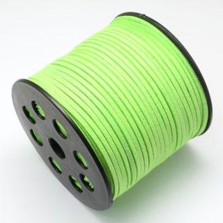 Suède koord neon groen