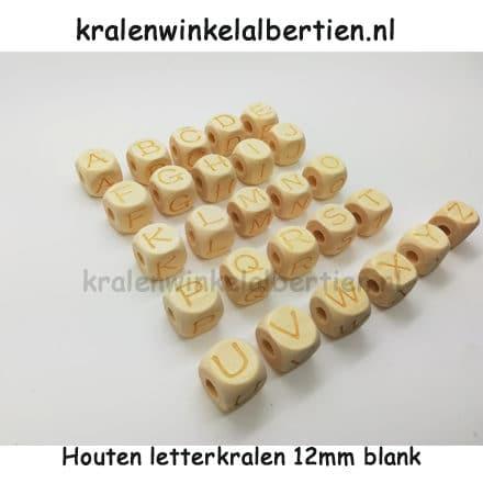 Letterkraal hout hele alfabet alle letters sieraden maken