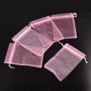 Organza zakjes licht roze