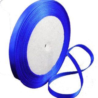 Rol lint blauw 6mm satijn enkelzijdig
