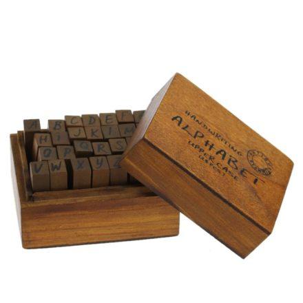 Houten letterstempels 9mm