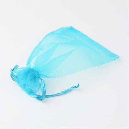Organza zakje aqua blauw