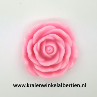 Bloem kralen roze roos