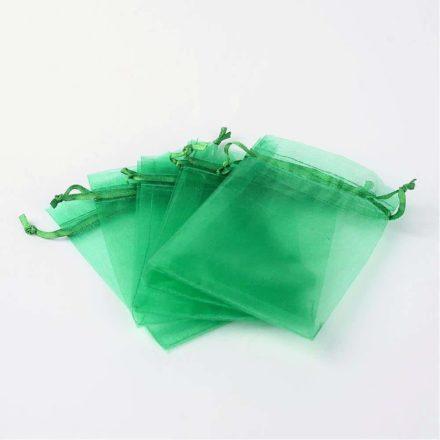 Organza zakjes 12cm groen