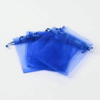 Organza zakjes donkerblauw