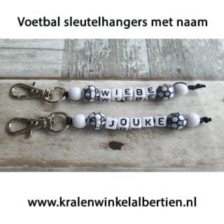 Voetbal sleutelhangers met naam