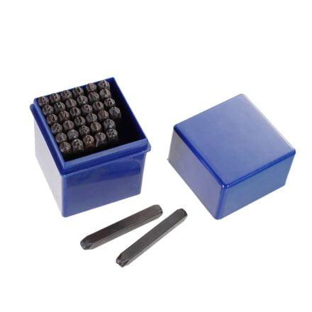 slagstempels 5mm groot leer en metaal