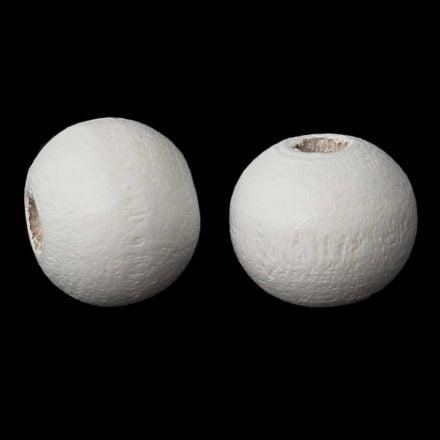 6mm witte kraal hout