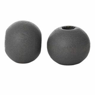 Kraal hout 6mm donker grijs