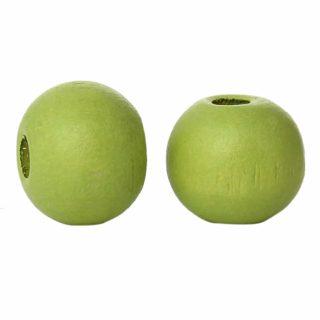 Groene kraal hout 6mm