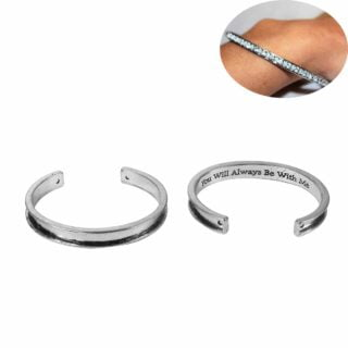 Zilveren armband cuff open