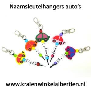 Uitdeelcadeautjes hangers met naam