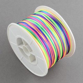 nylonkoord 1mm regenboog kleuren