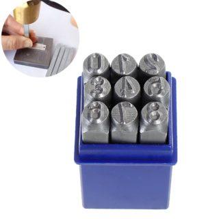 Slagcijfers groot 8mm stempels leer metaal
