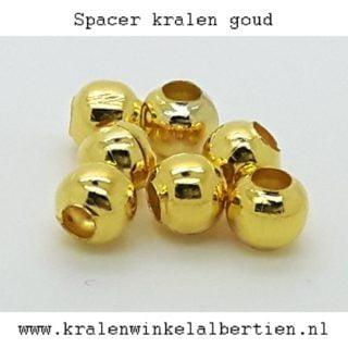Kleine spacers goudkleurig kraal