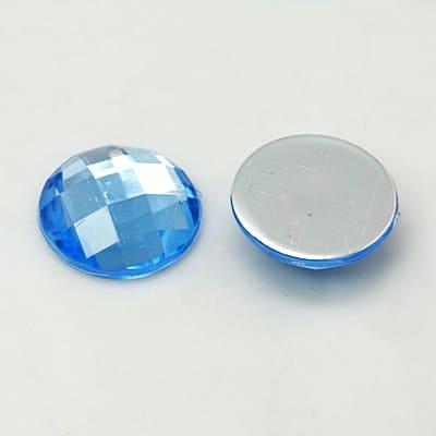 strass steentjes cabochon licht blauw