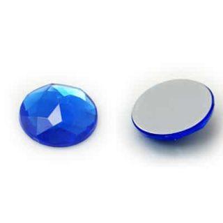 cabochon strass blauw plak steentjes