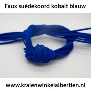 Faux suèdeveters blauw 3mm