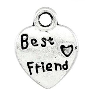 Zilveren best friend bedeltjes