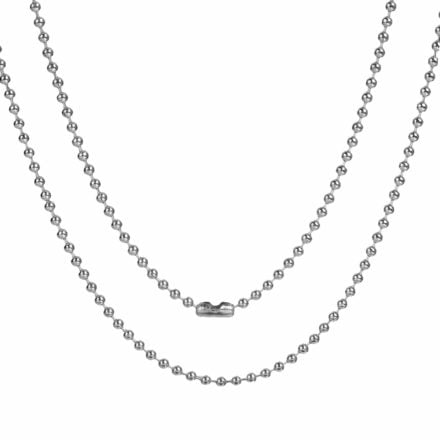 Bal chains ketting zilver stainless steel