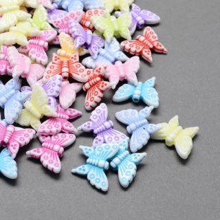 Vlindertjes kralen kinderen kleurenmix
