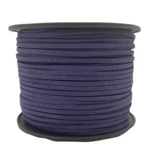 Imitatie suède veters 3mm donker blauw paars