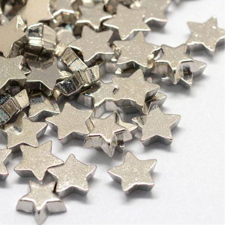 Memorie medaillon bedeltjes ster zilver