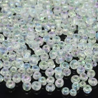 Seed beads 4mm glas transparant ab rocailles