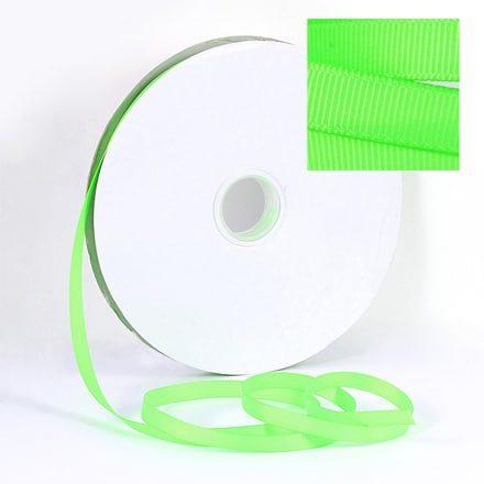 Lint 10mm neon groen grosgrain linten