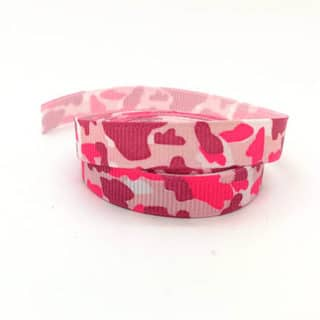 1cm breed grosgrain lint roze legerprint design