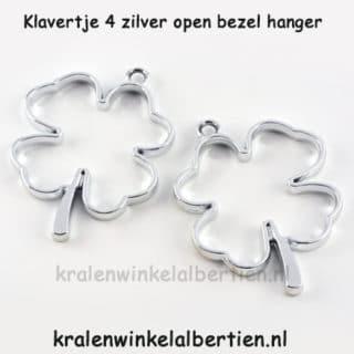 Klaver vier bedel open bezel sieraden maken hars