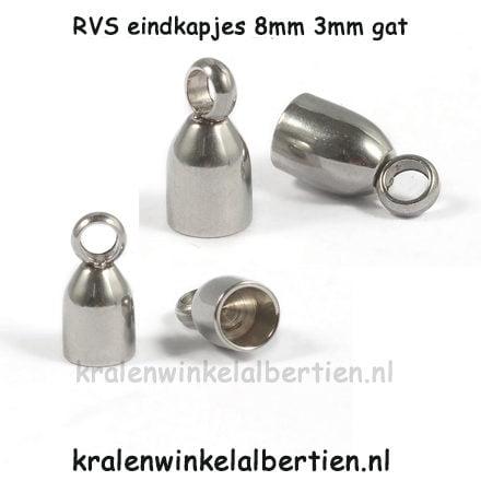 Eind kapje stainless steel onderdelen sieraden maken
