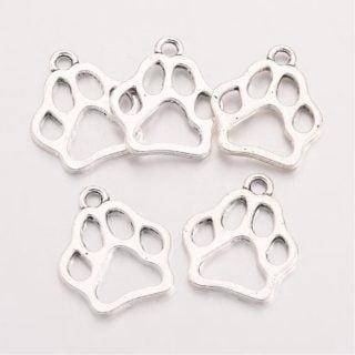 Hondenpoot bedel zilver