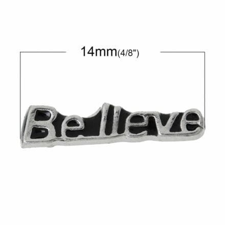 Floating charms believe 14mm zilver