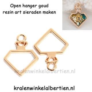 Open bezel bedel sieraden maken resin art epoxy giet hars