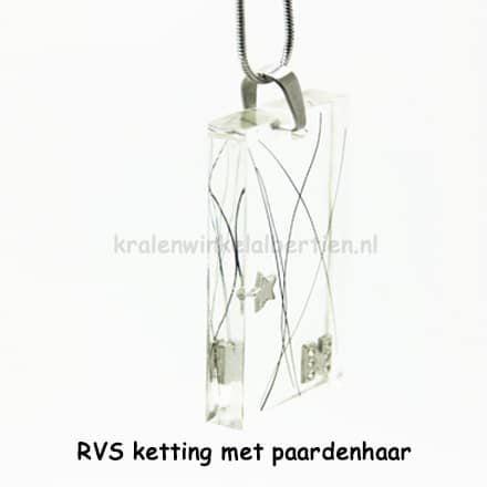 Stainless steel ketting paardenhaar sieraden