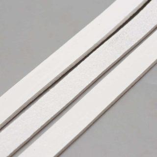 Echt leerkoord wit 10mm slagletters sieraden