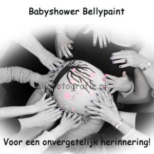 Foto babyshower idee drachten Heerenveen buikschildering