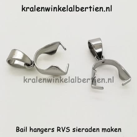 Bail hangers sieraden maken stainless steel epoxy giethars bedels