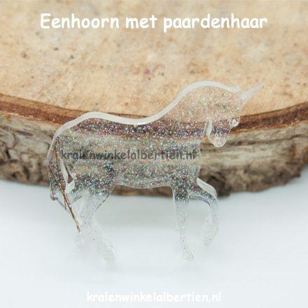 Gedenk beeld paardenhaar eenhoorn