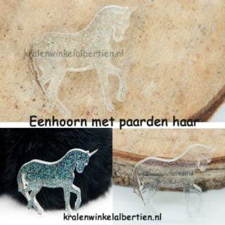 Paardenhaar beeldje gedenksteentje sieraden