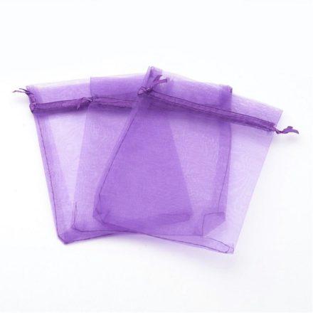 Paarse organza zakjes 15cm kado verpakking