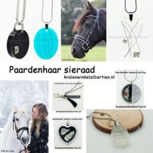 Sieraden paarden haar armband ketting kwastje sleutelhangers eigen paard