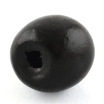 Zwarte kralen hout 18mm groot