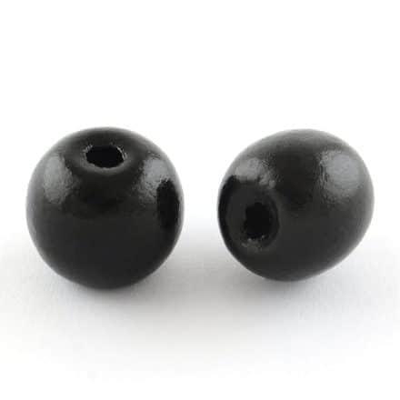 18mm houten kraal zwart groot