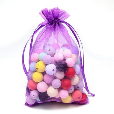 Zakjes van organza stof cadeauverpakking paars